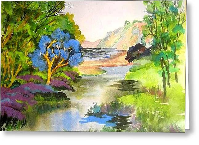 Redwood Creek  Greeting Card by Esther Woods