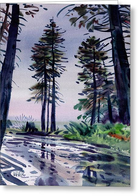Redwood Reflections   Greeting Card by Donald Maier