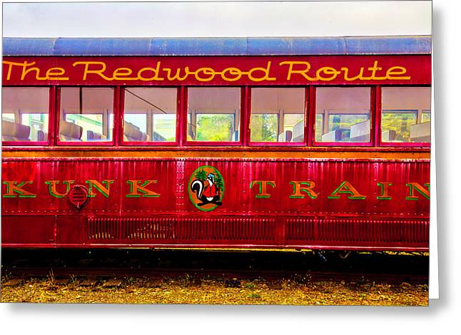 Redwood Route Coach Car Greeting Card