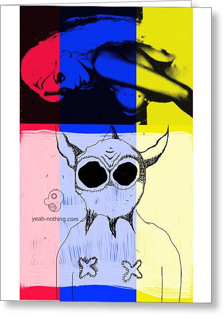 Red_yellow_blue Greeting Card by Yeah Nothing