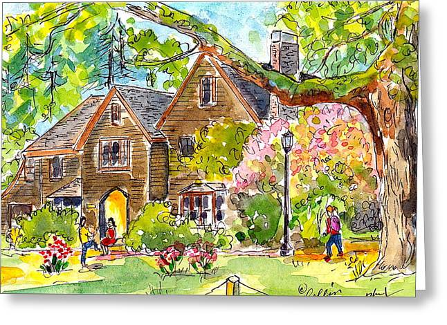 Reed College Prexy Blldg. Greeting Card by Collin Murphy