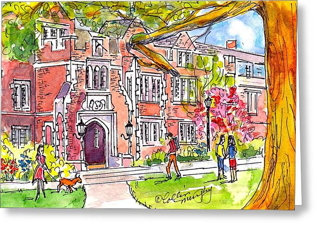 Reed College Campus Greeting Card by Collin Murphy