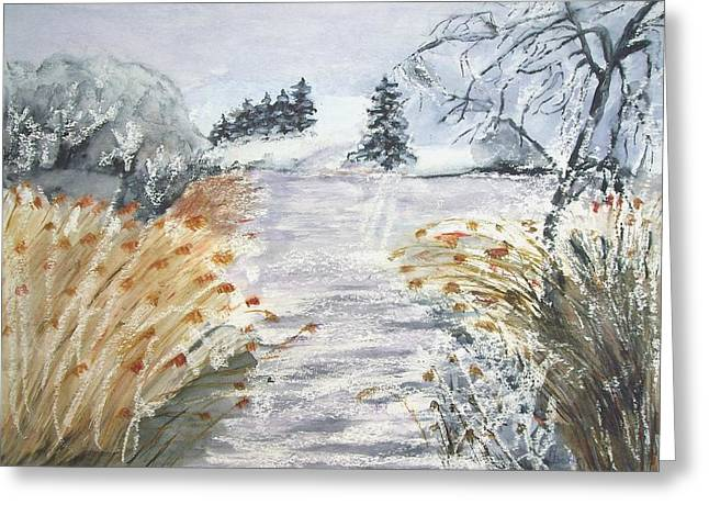 Reeds On The Riverbank No.2 Greeting Card