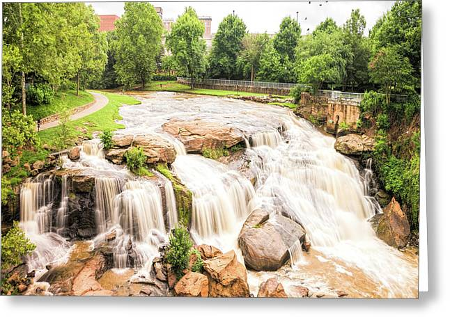 Greeting Card featuring the photograph Reedy River Falls Greenville Sc by Bellesouth Studio