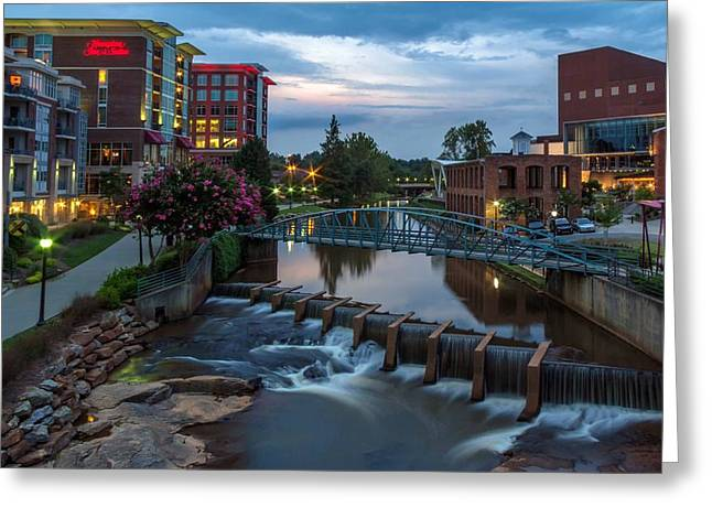 Reedy River View At Sunset Greeting Card