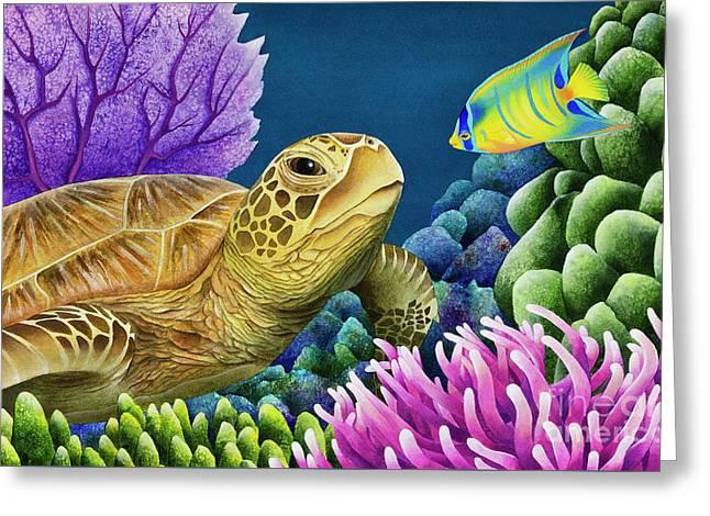 Reef Buddies Greeting Card by Carolyn Steele
