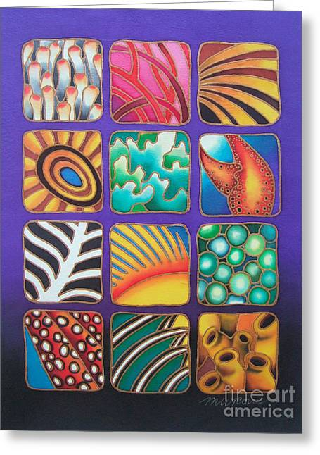 Reef Designs Ix Greeting Card