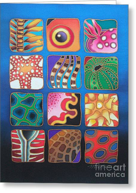 Reef Designs Vii Greeting Card