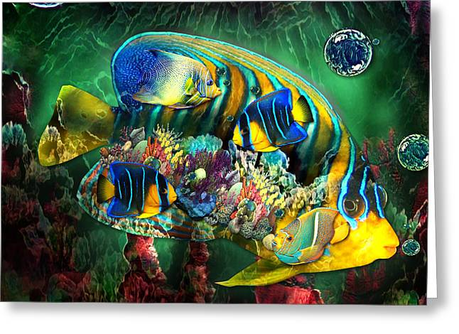 Reef Fish Fantasy Art Greeting Card