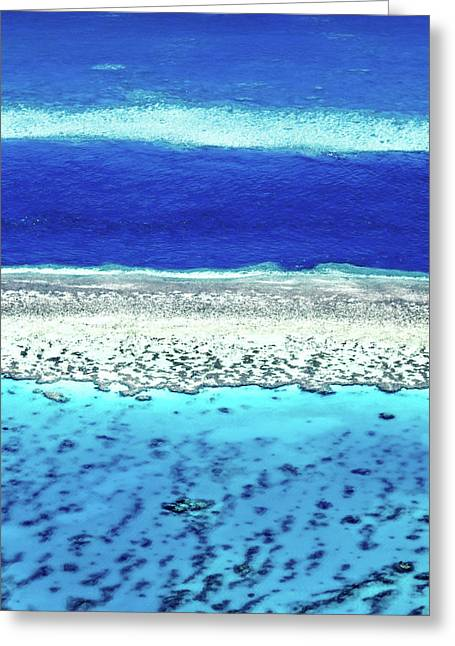 Reefs Edge Greeting Card by Az Jackson