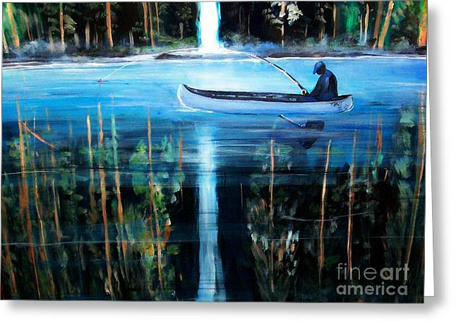 Refections Greeting Card by Tyrone Hart