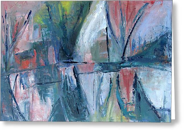 Reflections On Sails And Canvas Greeting Card