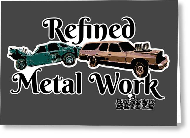 Refined Metal Work Greeting Card