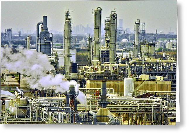 Refineries In Houston Texas Greeting Card