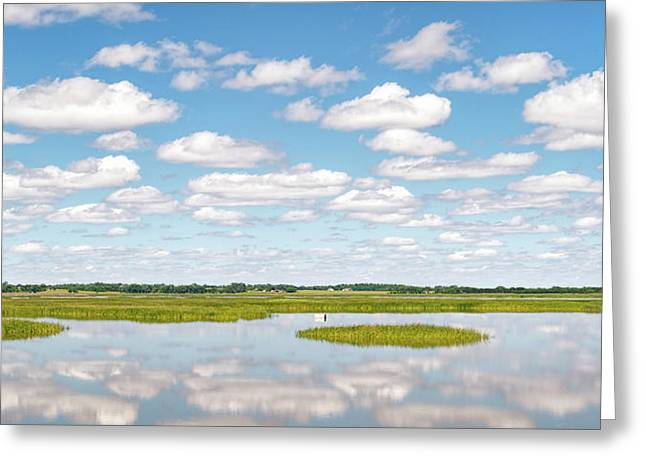 Reflected Clouds - 01 Greeting Card