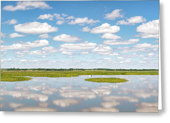 Reflected Clouds - 02 Greeting Card