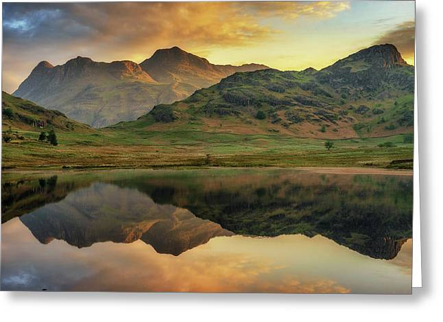 Greeting Card featuring the photograph Reflected Peaks by James Billings