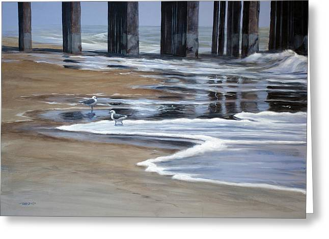 Reflected Pier Greeting Card