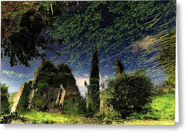 Reflected Ruins Greeting Card by Fulvio Pellegrini