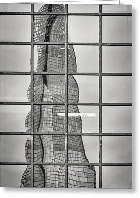 Reflected Shard Greeting Card by Rod McLean