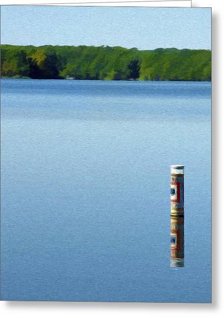 Reflected Warning Greeting Card by Jeff Kolker