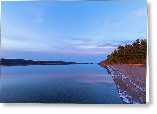 Greeting Card featuring the photograph Reflecting At The Reservoir by Brian Hale