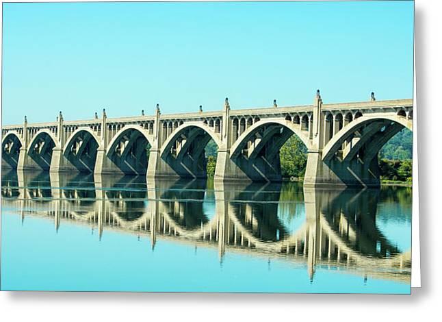 Reflecting Bridge Greeting Card
