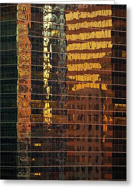 Wacker Drive Greeting Cards - Reflecting Chicago Greeting Card by Steve Gadomski