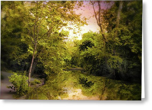 Reflecting On Spring Greeting Card by Jessica Jenney