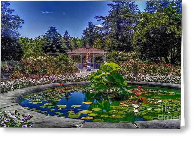 Reflecting Pool At Colonial Park Greeting Card