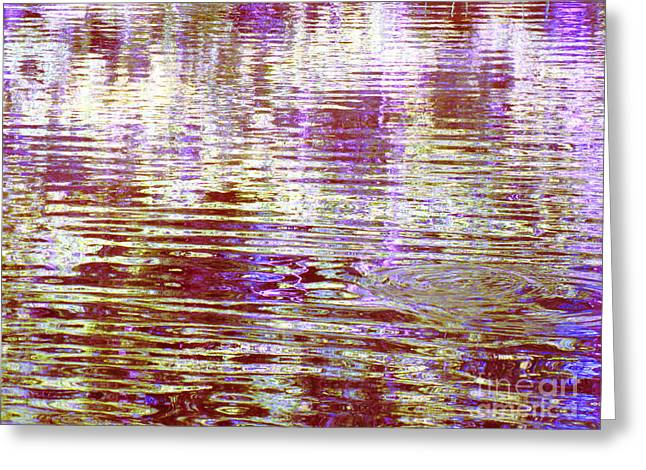 Reflecting Purple Water Greeting Card