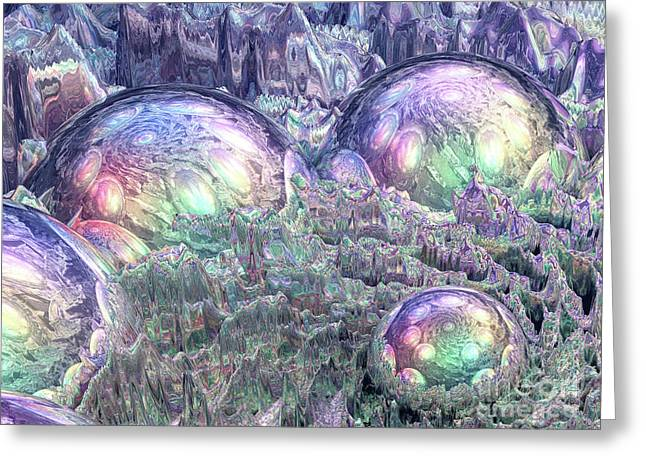 Reflecting Spheres In Space Greeting Card