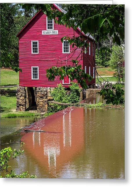 Starrs Mill Reflection Greeting Card