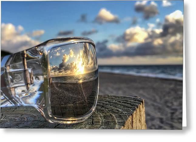 Reflecting Sunglasses Greeting Card