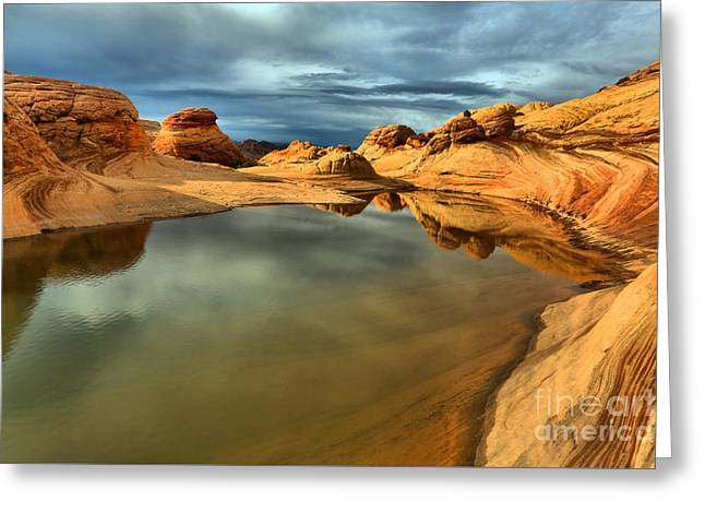 Reflecting The Desert Skies Greeting Card