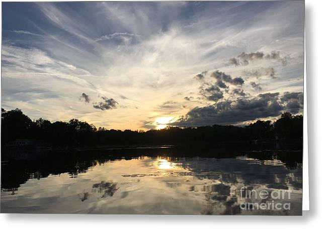 Reflecting Upon The Sky Greeting Card