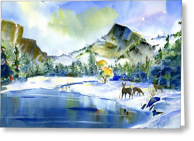 Reflecting Yosemite Greeting Card