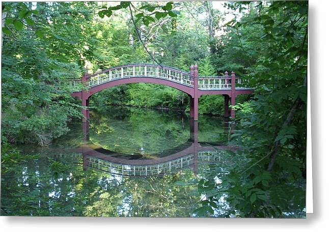 Reflection Bridge Greeting Card