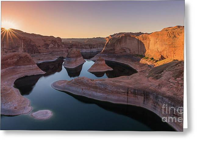 Reflection Canyon, Lake Powell, Utah Greeting Card by Henk Meijer Photography