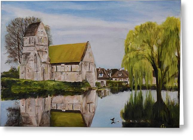 Reflection Greeting Card by George Kramer