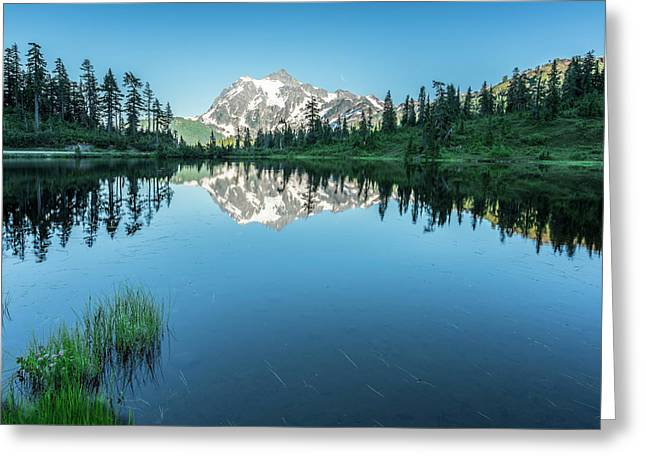Reflection In The Lake Greeting Card by Jon Glaser