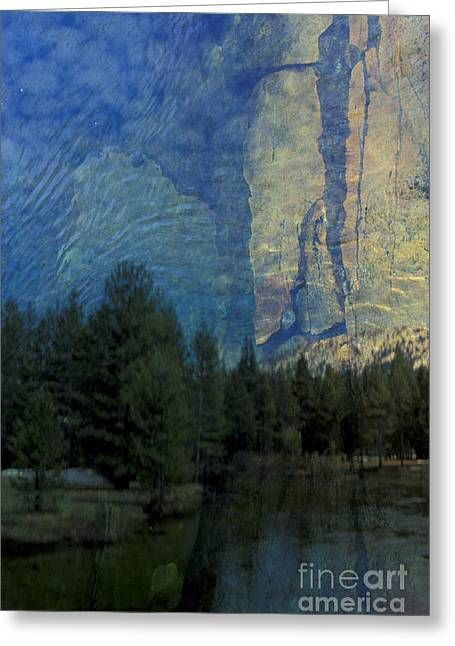 Greeting Card featuring the photograph Reflection In The Merced River by Stan and Anne Foster