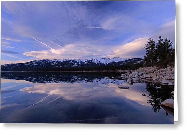 Greeting Card featuring the photograph Reflection In Winter by Sean Sarsfield