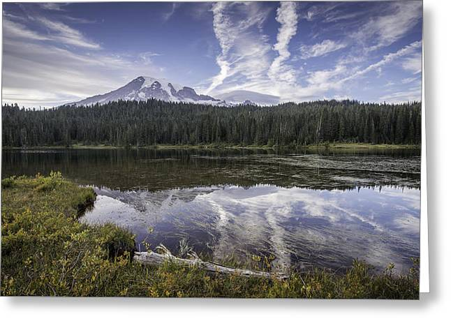 Reflection Lake Greeting Card by Michael Donahue