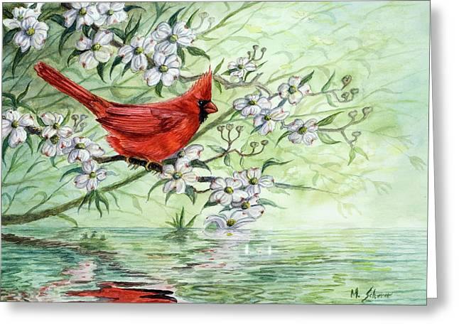 Reflection Greeting Card by Michael Scherer