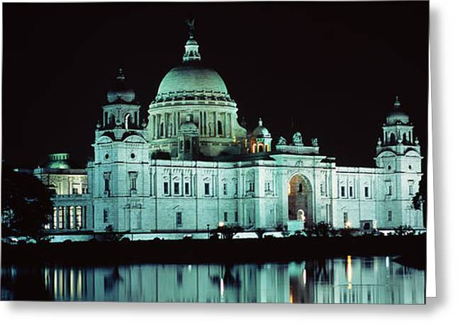 Reflection Of A Palace In Water Greeting Card by Panoramic Images