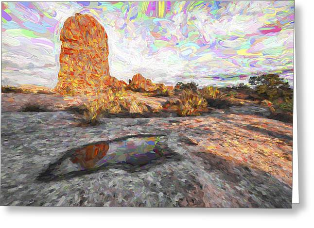 Reflection Of Arches IIi Greeting Card