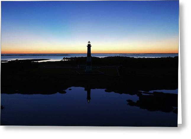 Reflection Of Bodie Light At Sunset Greeting Card