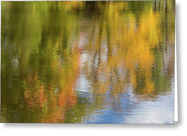 Reflection Of Fall #1, Abstract Greeting Card