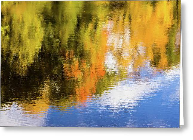 Reflection Of Fall #2, Abstract Greeting Card
